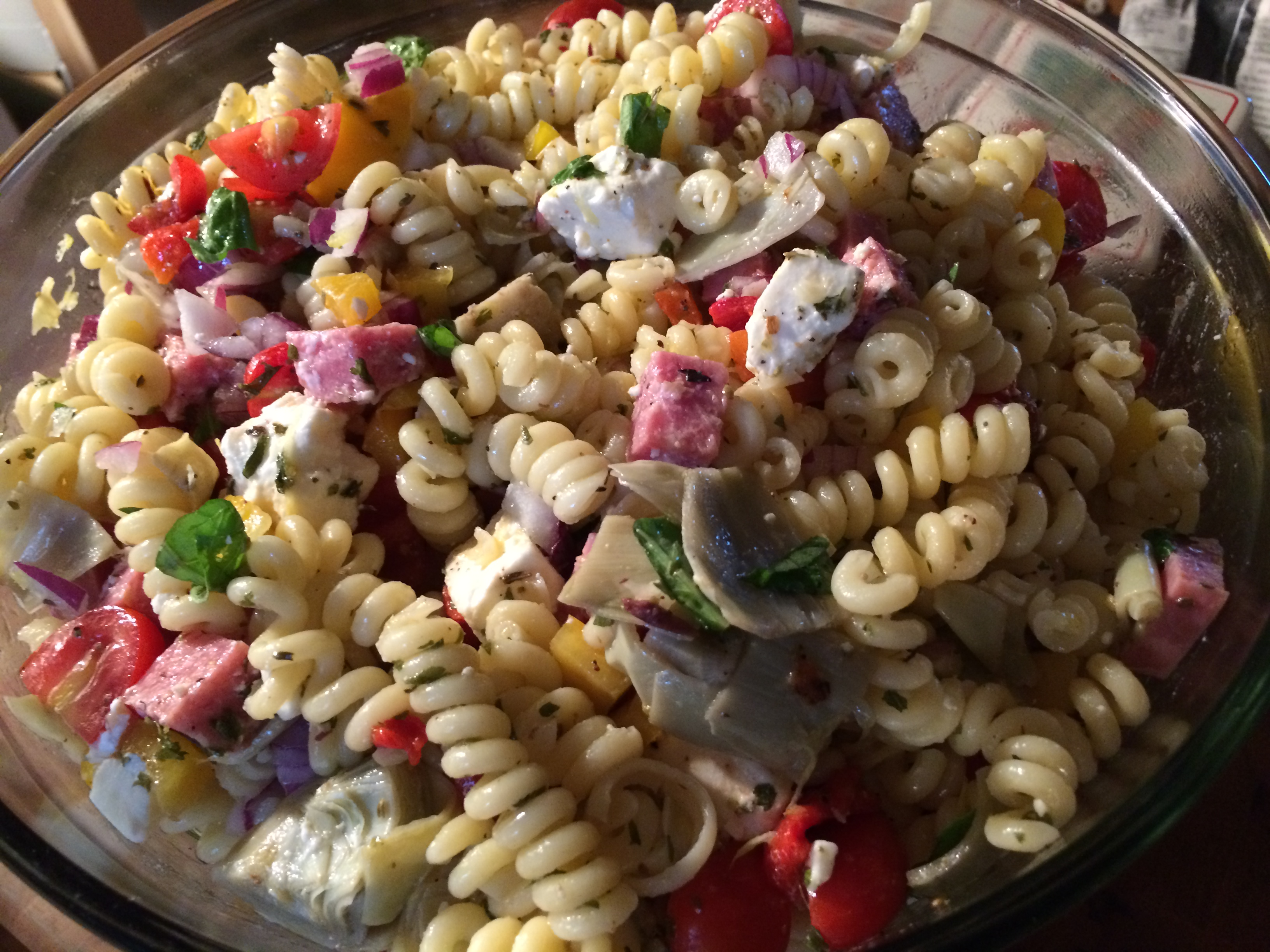 My Recipe For Greek Fusilli Salad