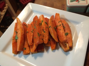 Roasted Sweet Potatoes with a Brown Sugar Glaze