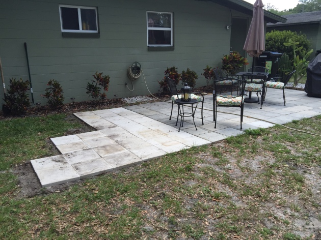 Expansion of patio
