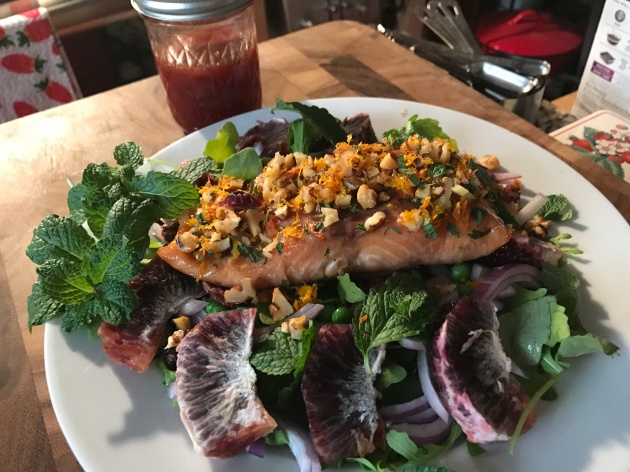 Walnut And Mint-Crusted Pan Seared Salmon (2)