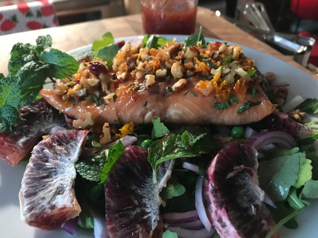 Walnut And Mint-Crusted Pan Seared Salmon (4)